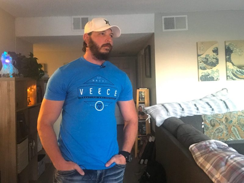 La Mesa resident Chad Regeczi saw his rent increase $300 on his apartment last year which prompted him to find another place to live. Photo by Amita Sharma, KPBS