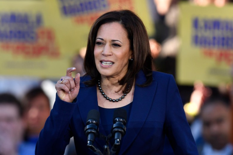 U.S. Senator Kamala Harris speaks during a launch rally for presidential campaign in Oakland last month. Photo by Jose Carlos Fajardo, Bay Area News Group