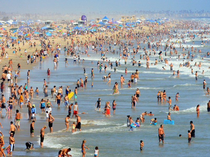 Huntington State Beach is one of the most popular state parks in California. The state parks draw more than 80 million visitors per year