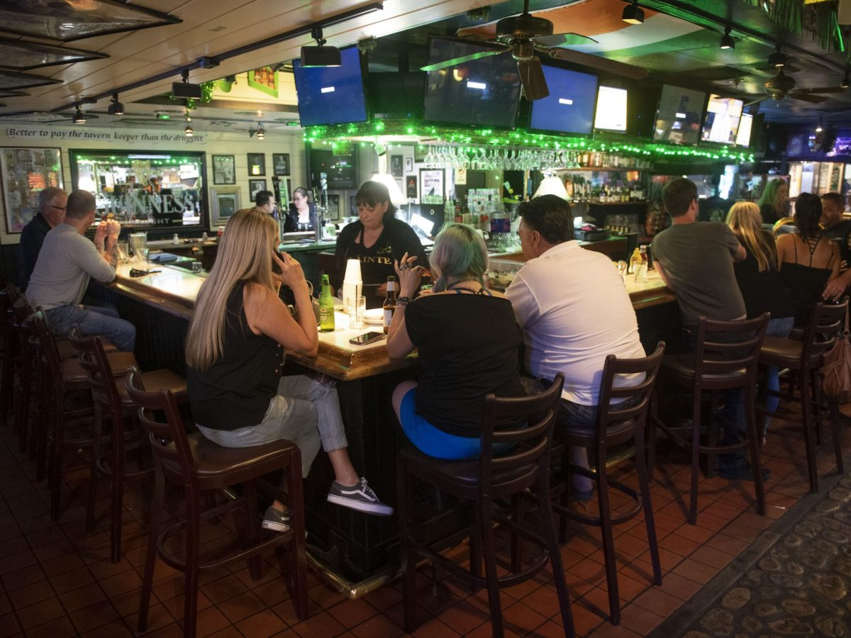 Patsy's Irish Pub in Mission Viejo, where 55 % of young adults in this part of Orange County live at home. Photo by Kevin Sullivan, Orange County Register/SCNG