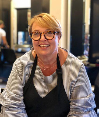 Hairdresser Diane Plitka Kozak in the South Pasadena salon where she works. Photo by Julie Cart/CalMatters