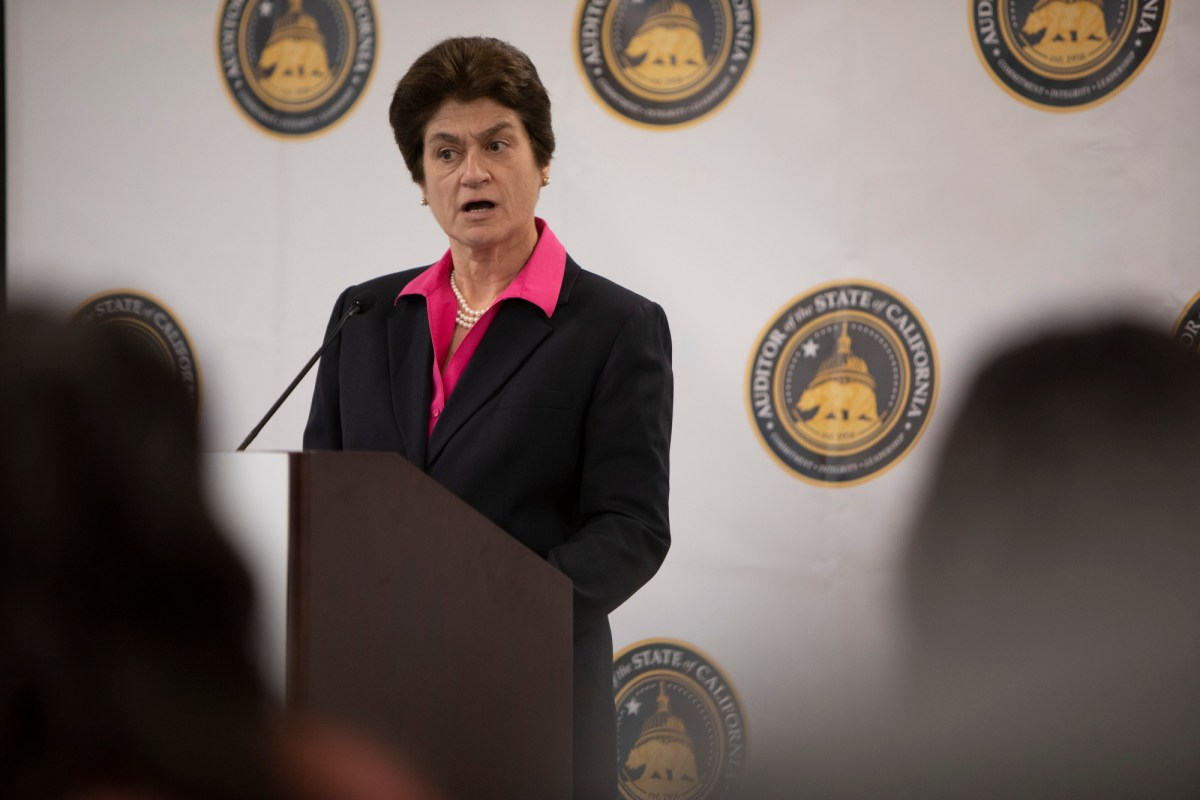 California State Auditor Elaine Howle issued a report critical of the state Lottery. (Photo by Anne Wernikoff for CalMatters)