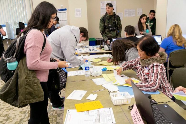 Sacramento State students voting 2019 election