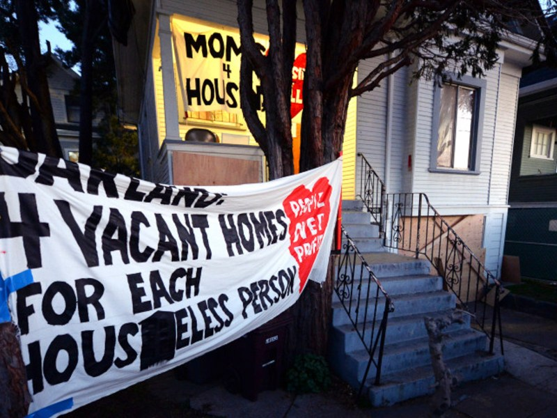 "The home that was illegally occupied by a group calling themselves ""Moms 4 Housing"" is photographed after they were evicted in Oakland, Calif., on Tuesday, Jan. 14, 2020. Photo by Doug Duran, Bay Area News Group"