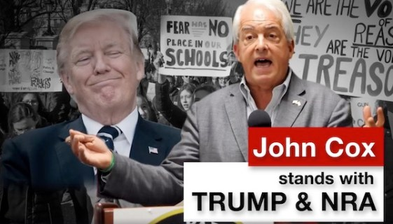 "An ""attack"" ad that Gov. Newsom ran against Republican candidate John Cox during the 2018 primary, vilifying him for liberals but highlighting his conservative bonafides for Republican voters."