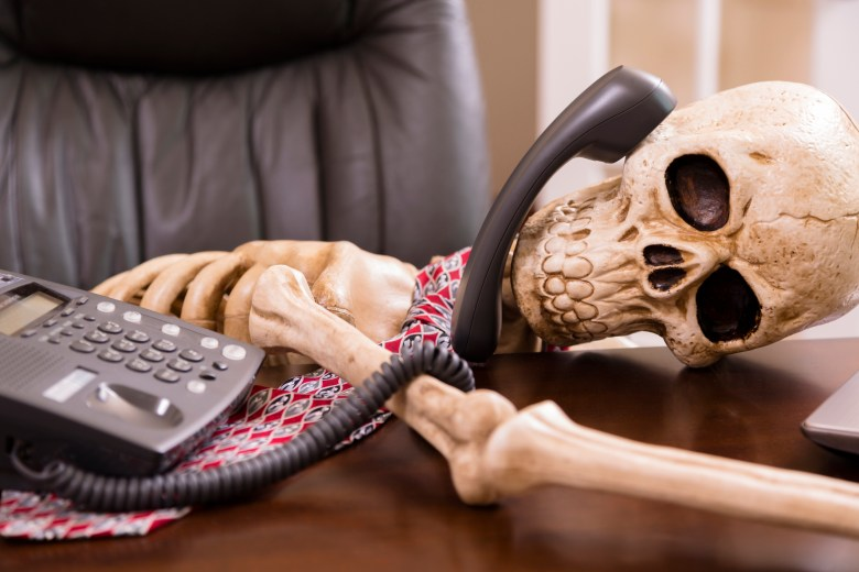 """Business: Man died while waiting """"on hold."""" Office phone."""