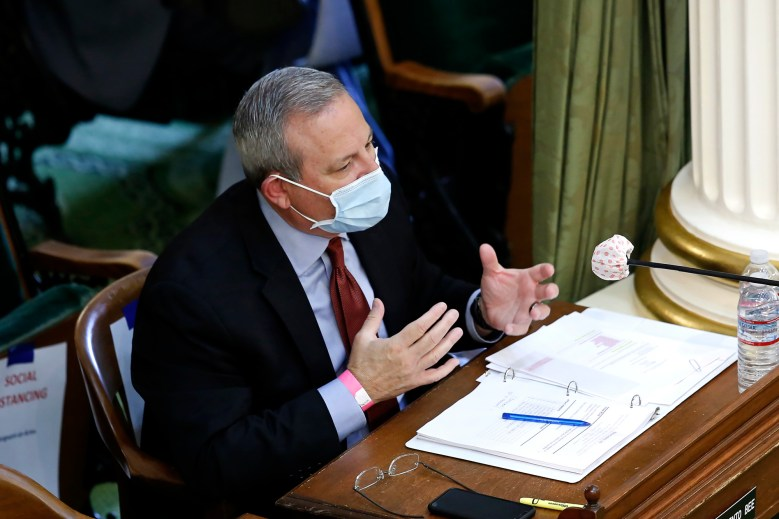 Mark Ghilarducci, director of the governor's Office of Emergency Services, discusses the state's purchase of protective equipment to battle the coronavirus, during an oversight hearing in Sacramento on May 11, 2020. Photo by Rich Pedroncelli, AP Photo