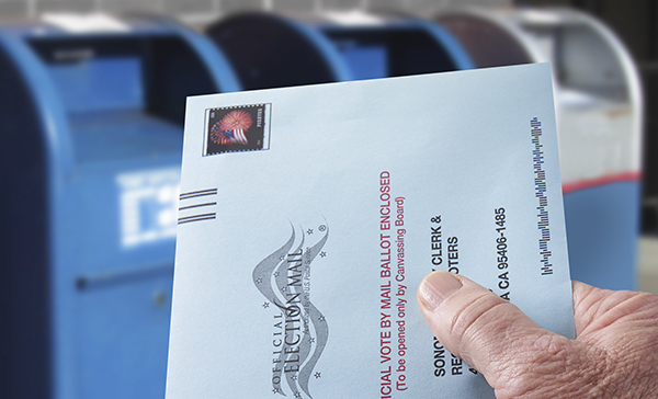 California mail-in-ballot. Image via iStock