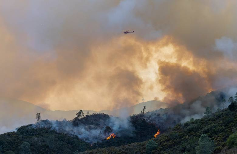 The River Fire has destroyed 4,070 acres and threatened 1,527 structures south of Salinas, Calif., on Aug. 17, 2020. As of Tuesday morning the fire remains at a 10% containment, and six structures have been destroyed. Cal Fire reports that they expect full containment by Aug. 30. Over 500 firefighters continue to fight the fire, four have suffered heat exhaustion. Photo by David Rodriguez