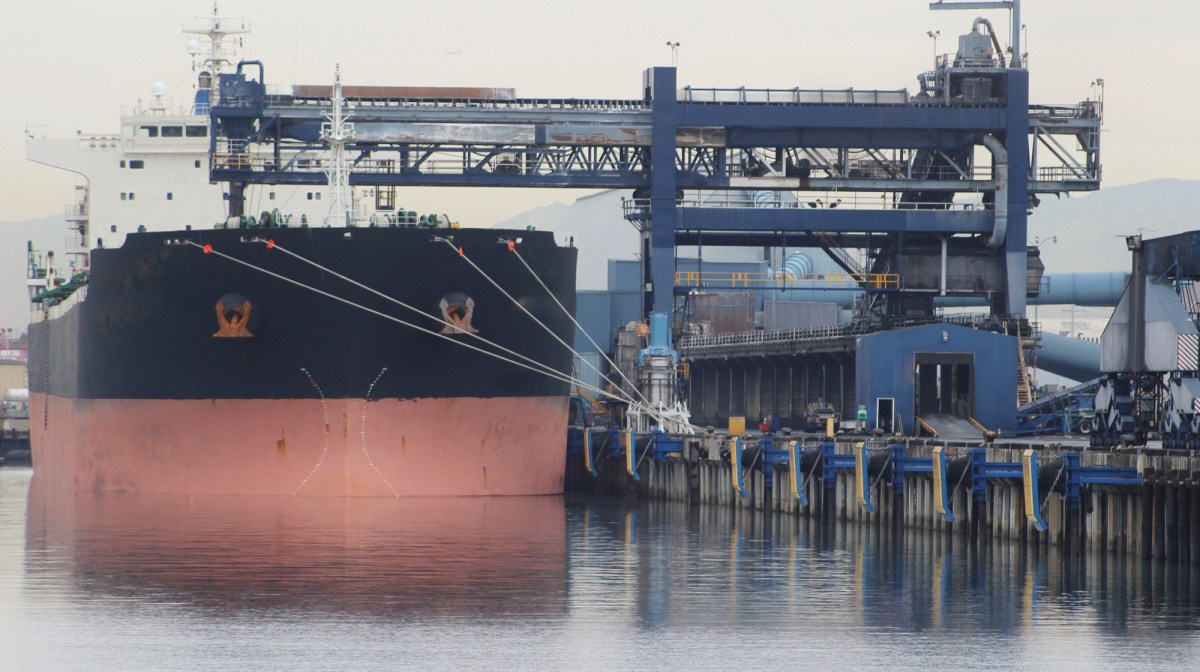Oil Tanker at the Port of Long Beach. Image via iStock