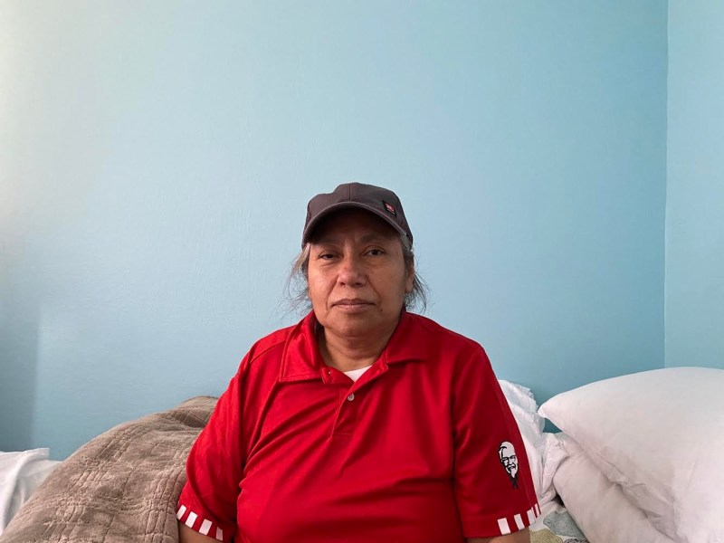 Paz Aguilar, 54, contracted coronavirus over the summer, along with was at least seven of her coworkers, by her count, at a combined Kentucky Fried Chicken and Taco Bell in Oakland. Three weeks into her illness, a stroke left her paralyzed on one side of her body. Photo courtesy of Aguilar