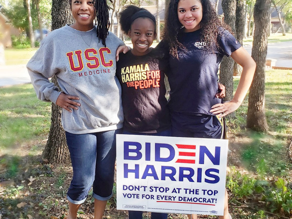 Dr. Myiesha Taylor, left, with her daughters Hana Taylor Schlitz, 12, and Haley Taylor Schlitz, 18. Photo courtesy of William Schlitz