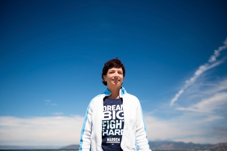 Cynthia Replogle moved to the area three years ago and quickly become a target after becoming involved in local efforts to protect the dunes. Photo by Brittany App for CalMatters