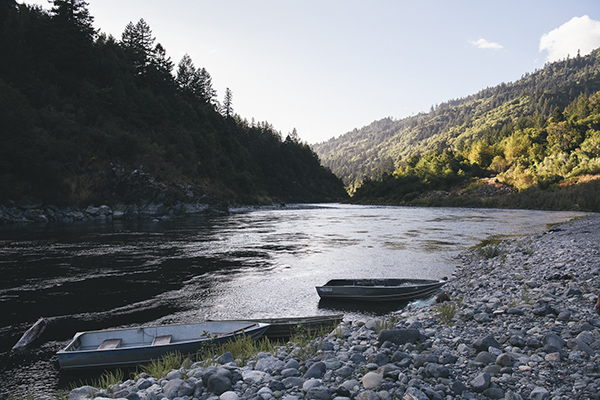 A view of the Klamath River in Weitchpec on Sep. 17, 2020. Photo by Alexandra Hootnick for CalMatters