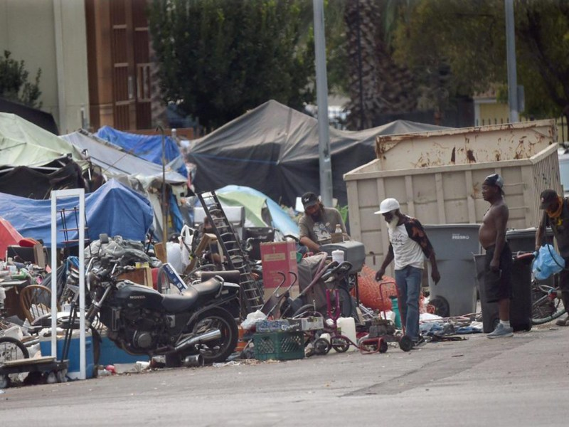 About 1,133 more people are homeless in Fresno and Madera this year compared to 2019, a 45% uptick, according to new numbers. Photo by David Caraccio, The Fresno Bee