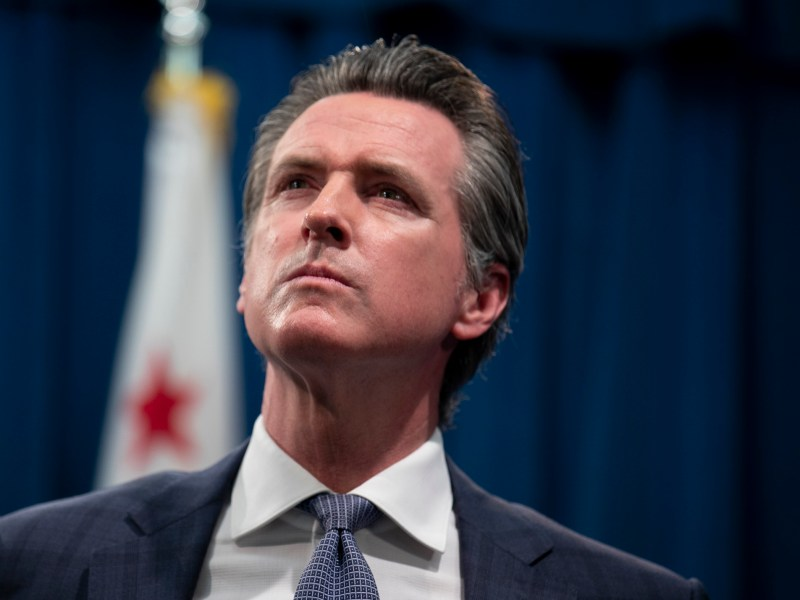 At the median of his first term, Gov. Gavin Newsom has faced vexing challenges —some of his own making. Photo by Anne Wernikoff for CalMatters