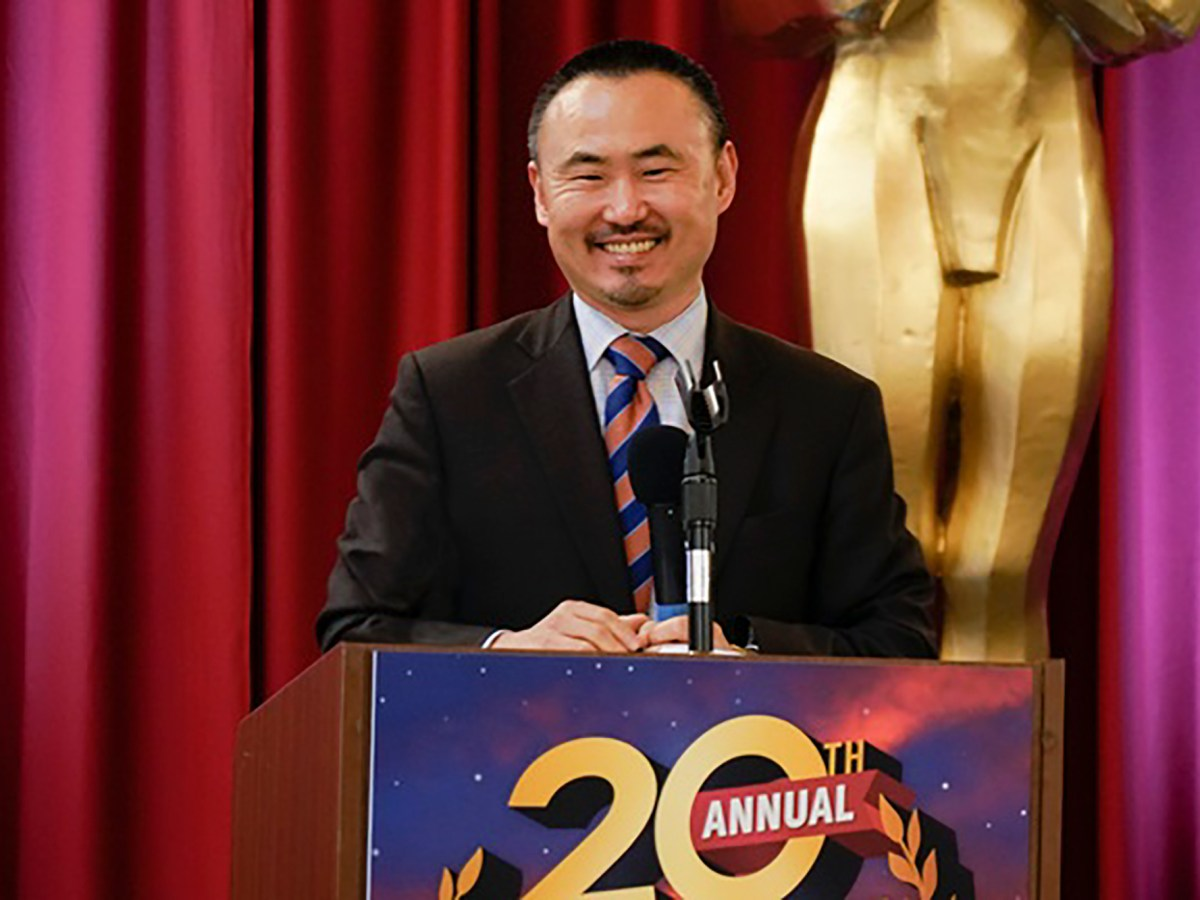 Daniel Kim, Director of the Department of General Services, at the state agency recognition awards on Jan. 29, 2020. Photo via Department of General Services