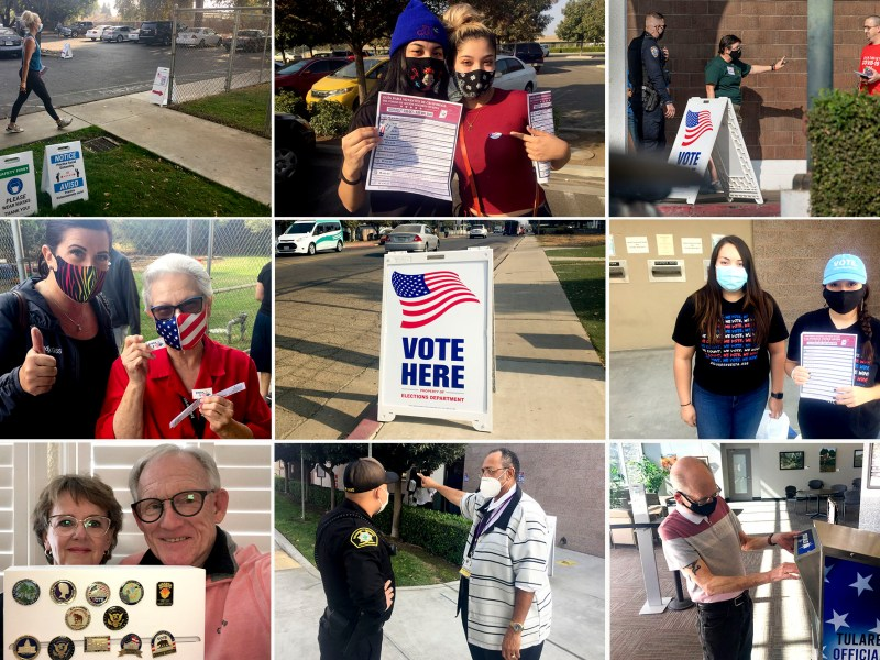 Despite widespread and continuing national concerns about election integrity, it's clear that county registrars of voters in California — the heroes of the 2020 election — made sure every vote was counted. Photos by Lew Griswold; courtesy of Jeannette Logue; Ron Holman, Visalia Times Delta
