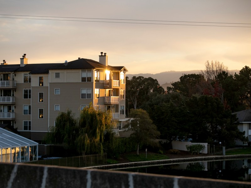 Marlin's Cove, a housing complex with low-income units, in Foster City on Dec. 2, 2020. Federal bonds allocated toward the construction of affordable housing across California expired in 2017 after less than half of the funds had been used. Photo by Anne Wernikoff for CalMatters