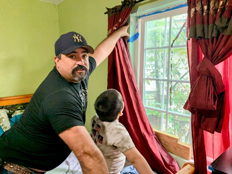 Alonso Ceceñas has been unable to pay rent on the one-bedroom apartment his family shares since losing his job with a construction company due to the pandemic. Photo by Araceli Martínez Ortega