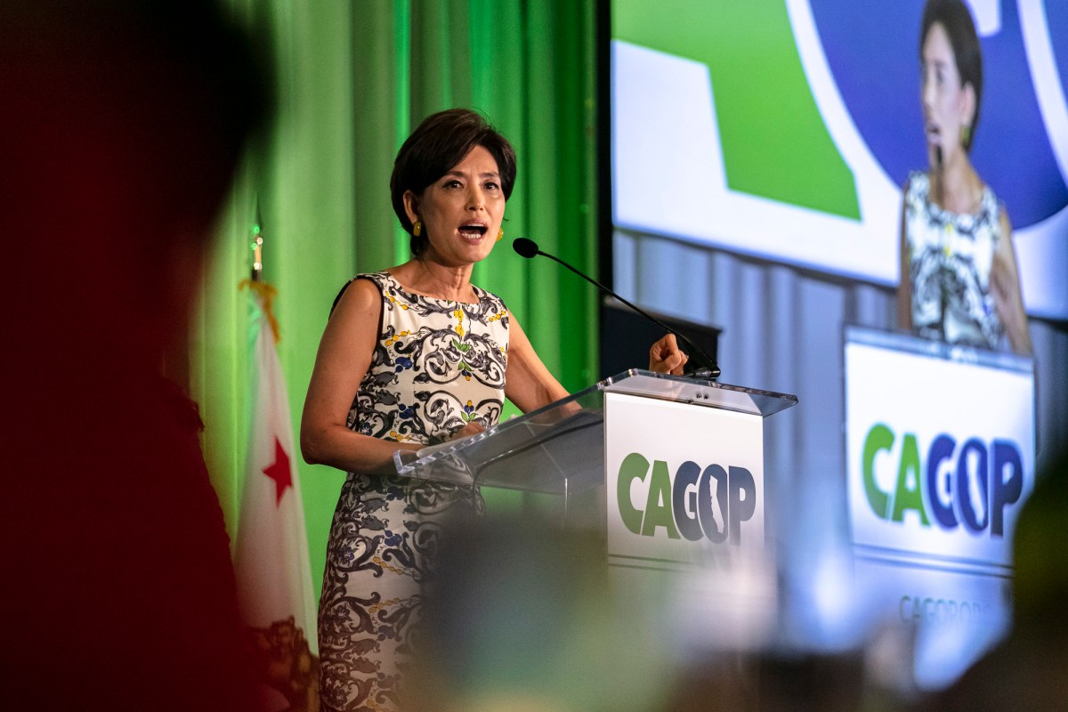 In the 2020 election, four California Congressional seats previously held by Democrats went to the GOP, including the Orange County district won by Republican Rep. Young Kim. The Republican candidates benefited from misinformation spread on social media and partisan news sites. Photo by Philip Cheung