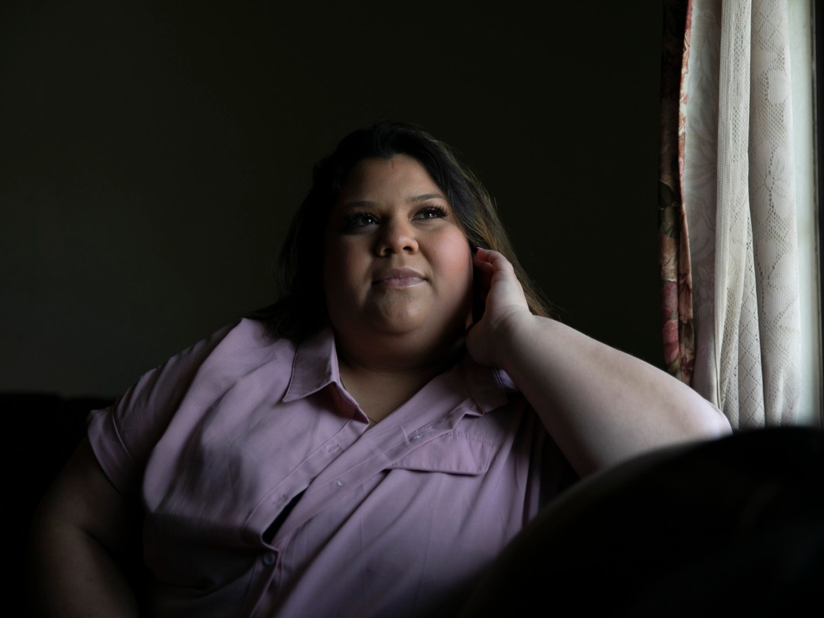 Isabel Lopez, a third year student at Chico State studying agriculture science and education, has yet to receive her $800 student stimulus payment even though it appears on her financial aid documents. Photo by Anne Wernikoff, CalMatters
