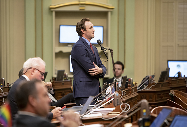Assembly member James Gallagher is one of two Republican lawmakers who sued Newsom in an attempt to rein in his emergency powers. Photo by Anne Wernikoff, CalMatters