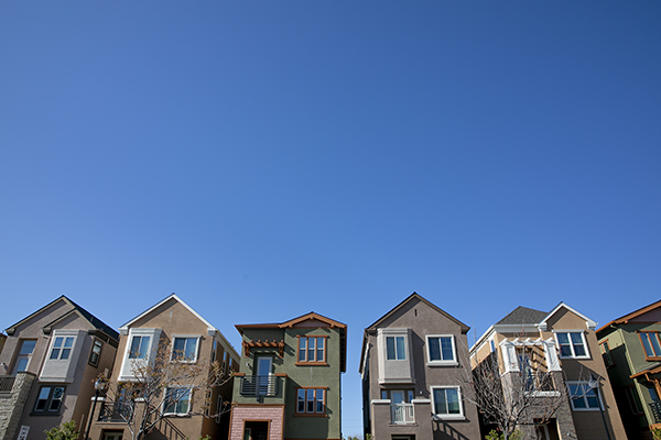 Townhomes in Livermore on March 12, 2021. Photo by Anne Wernikoff, CalMatters