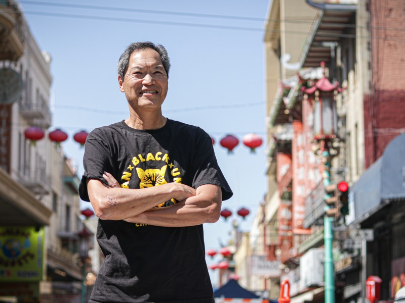 Russell Jeung, co-founder of Stop AAPI Hate, near the office of Chinese for Affirmative Action in San Francisco Chinatown on May 7, 2021. Jeung is an Asian American Studies professor at San Francisco State University. Photo by Harika Maddala