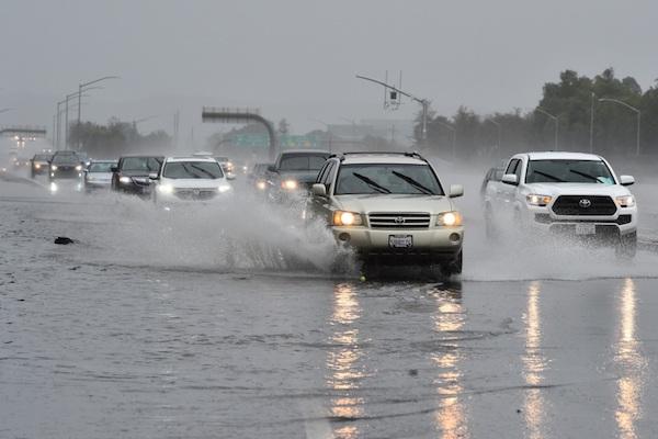 Bomb cyclone tears through California
