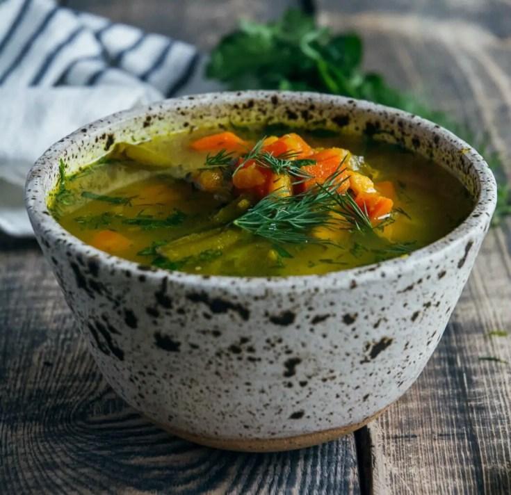 Bone Broth Vegetable Soup