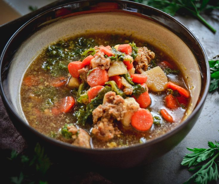 Sausage Kale and Carrot Soup