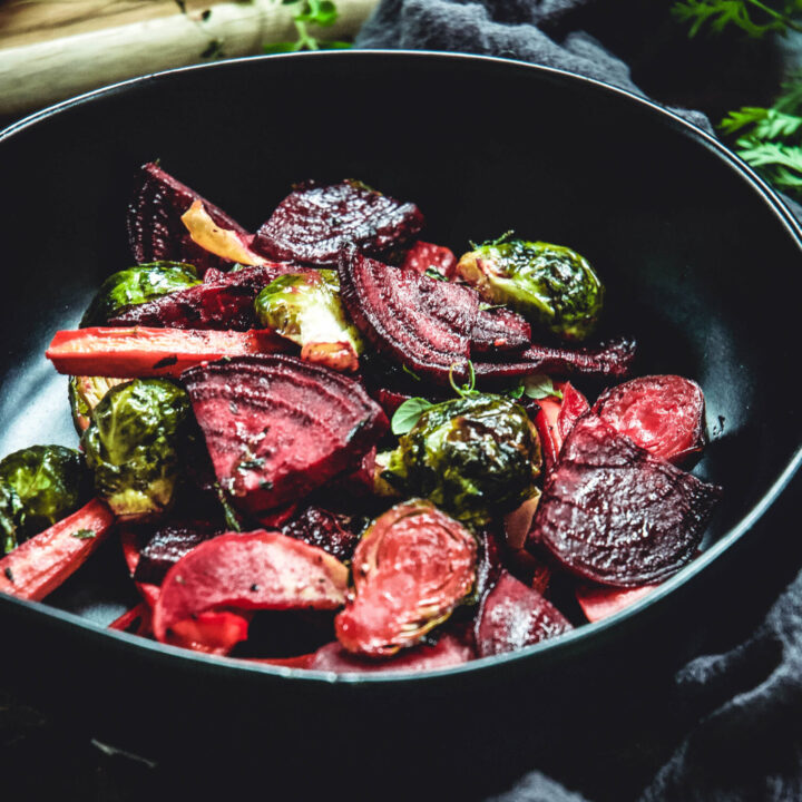 Maple Roasted Root Vegetables With Dijon And Thyme