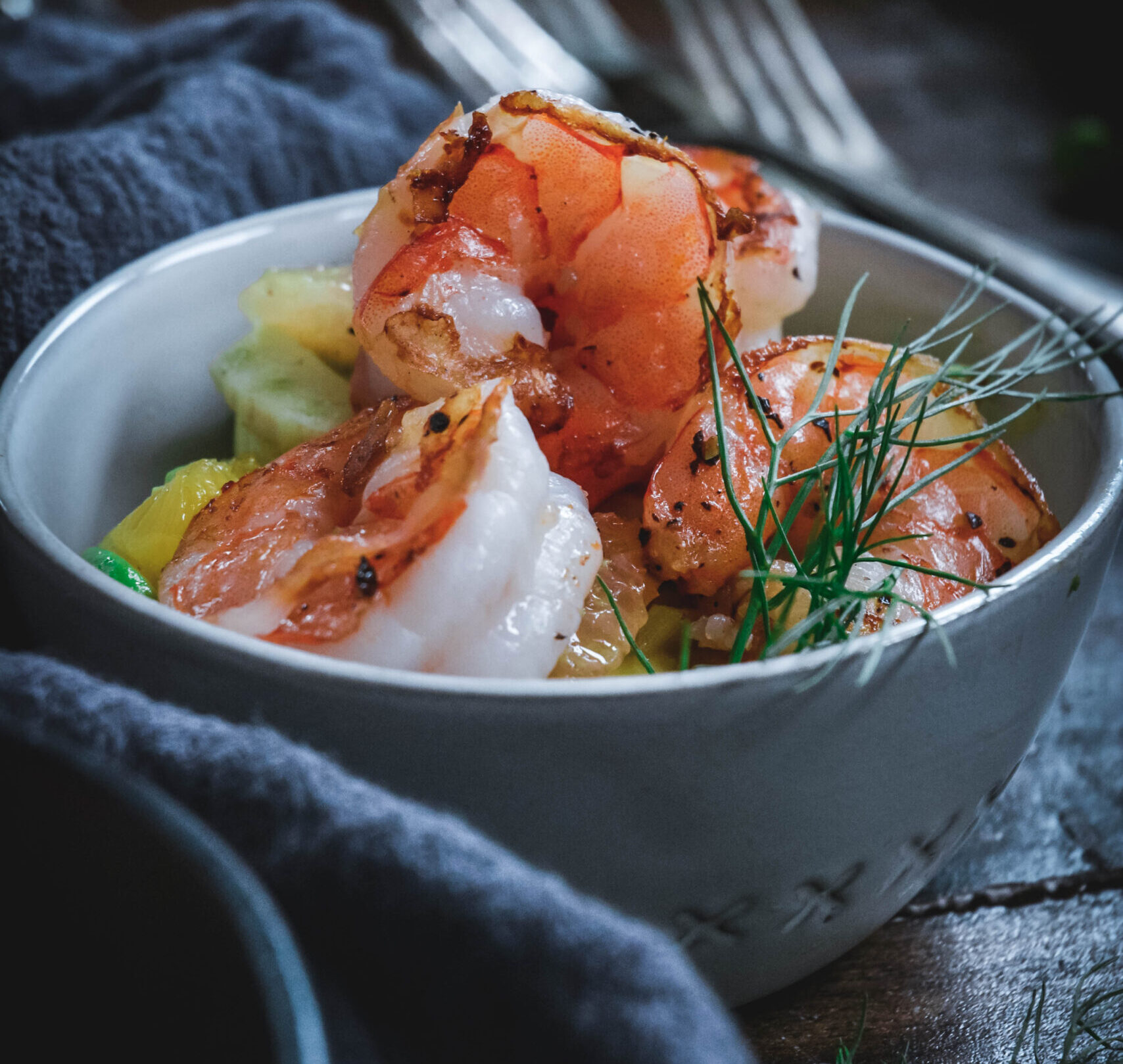 Shrimp Salad with Fennel, Citrus and Avocado