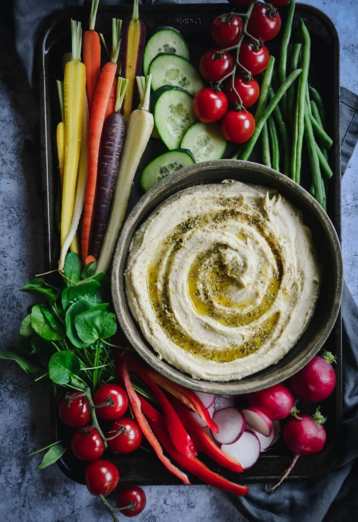 Gut Friendly Lemon Garlic Hummus