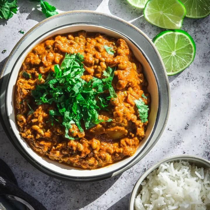 Easy and Healthy Vegan Cauliflower Mung Bean Curry