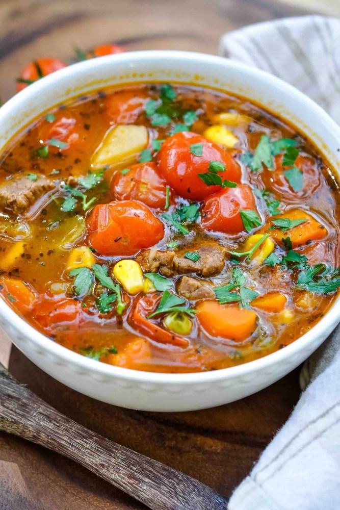 vegetable stew in bowl