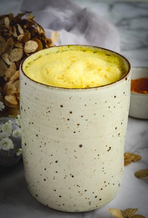 turmeric latte in mug
