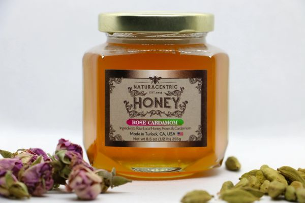 Rose Cardamom Infused Honey