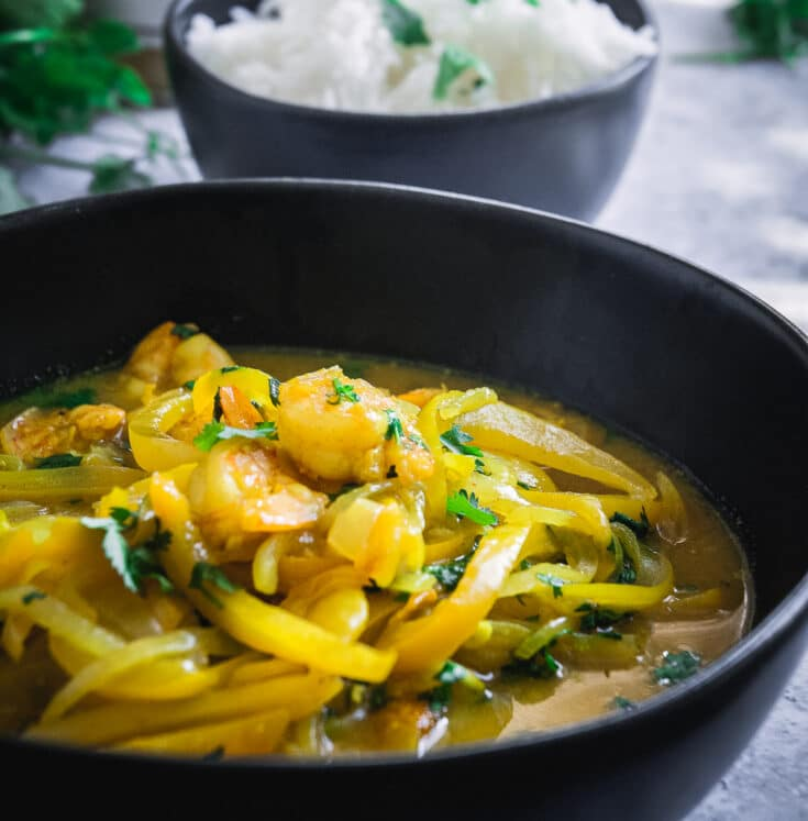 Shrimp Tagine with Preserved Lemon Puree