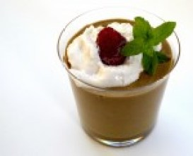 Image shows a healthy vegetable smoothie with a dollop of homemade soy yoghurt as described in this recipe for healthy smoothies on CALMERme.com