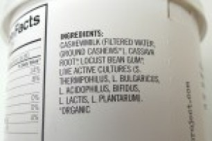 Image shows ingredients label for Forager plain yogurt, as described in this post on CALMERme.com