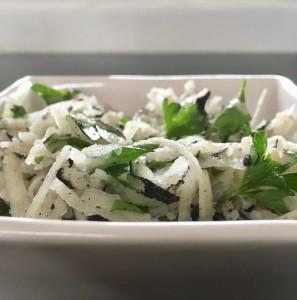 Photo of black radish salad from CALMERme.com