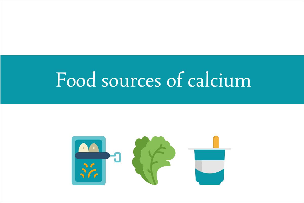 Blogheader about food sources of calcium from CALMERme.com