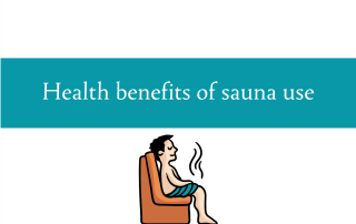Blogheader for post on the health benefits of sauna use from CALMERme.com