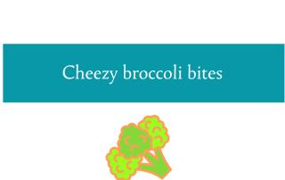Blogheader for cheezy broccoli bites recipe from CALMERme.com