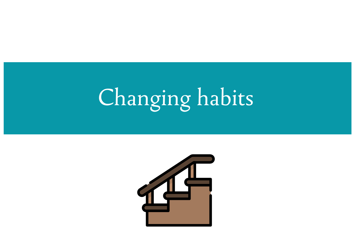 Blog post about changing habits as a step by step approach from CALMERme.com
