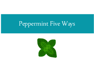 Blogheader for Soothing Peppermint Five ways blogpost from CALMERme.com