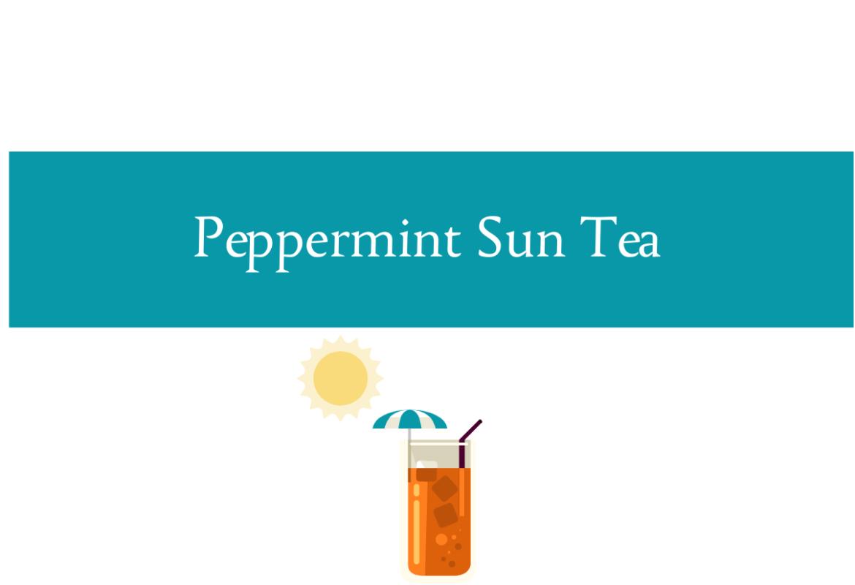 Peppermint sun tea from CALMERme.com