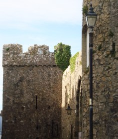 The medieval stone walls of Tenby, Pembrokeshire